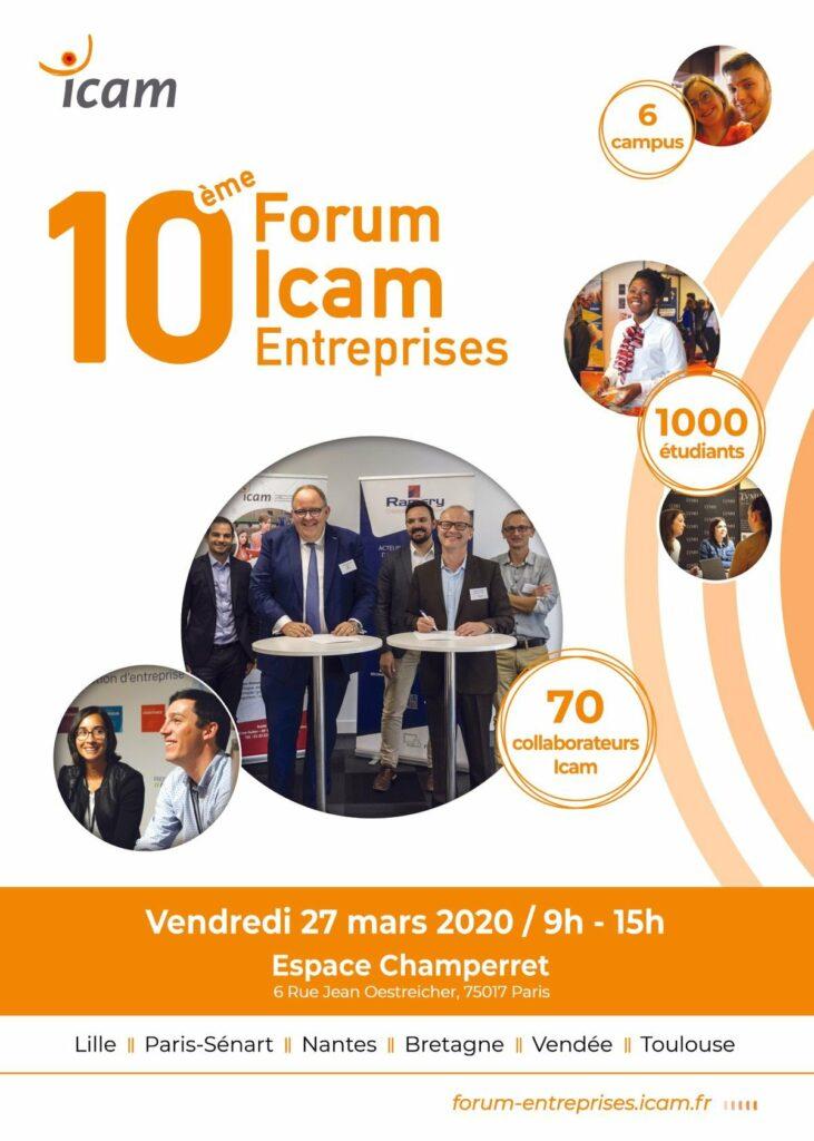 Affiche 10e Forum Icam Entreprises