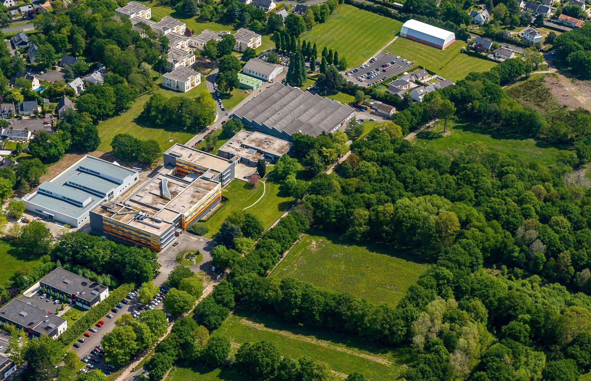 Campus Icam site de Nantes vu du ciel